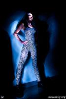 Meg's jumpsuit. Light painted photograph.